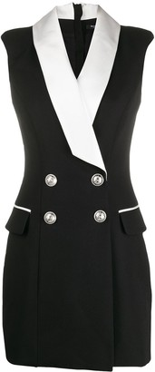 Balmain Double-Breasted Blazer Mini-Dress