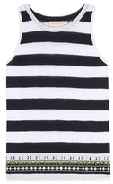 Tory Burch Jackie embellished striped tank top