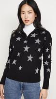 Chaser Star Intarsia Drop Shoulder Funnel Neck Pullover
