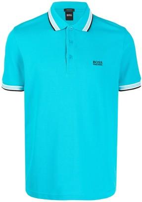 BOSS Striped Trim Slim-Fit Polo Shirt