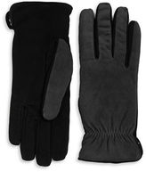 Isotoner Sherpa Lined Suede Gloves