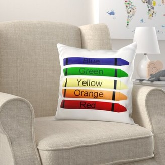 Zoomie Kids Dooley Five Crayons Pillow Cover