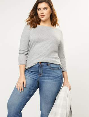 Lane Bryant 3/4-Sleeve Boatneck Tee