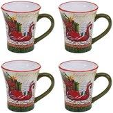 Certified International 4-Piece Winter Garden Sleigh Mug Set