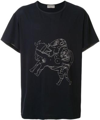 Yohji Yamamoto Asakura printed T-shirt