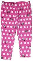 Disney Classic Minnie Mouse Big Face Womens Pant Leggings - 24 Inch