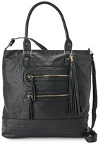 under one sky Black Washed Soft Pebbled Tote
