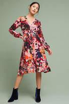 Maeve Printed Silk Wrap Dress