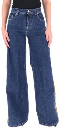 L'Autre Chose Floral Wide-Leg Jeans