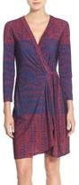 BCBGMAXAZRIA 'Adele' Print Jersey Wrap Dress