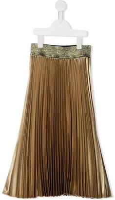 John Richmond Junior Plisse Pleated Metallic Skirt
