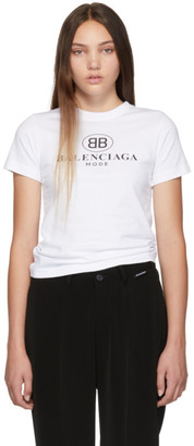 Balenciaga White BB T-Shirt