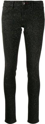 Philipp Plein Glitter-Effect Skinny Jeans