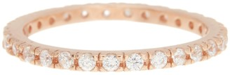 ADORNIA 14K Rose Gold Plated Swarovski Crystal Accented Eternity Band