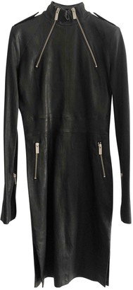 Ash Black Leather Dress for Women