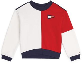 Tommy Hilfiger Junior Colour-Block Flag Logo Sweatshirt (4-16 Years)