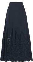 Stella McCartney Penelope broderie anglaise-paneled cotton maxi skirt