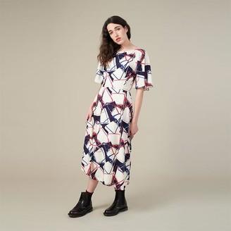 Emily And Fin Abstract Handbag Suzanna Midi Dress - 10