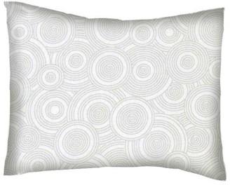 Sheetworld Twin Pillow Case - Percale Pillow Case - Grey Multi Circles