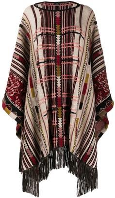 Etro Patterned Knit Poncho