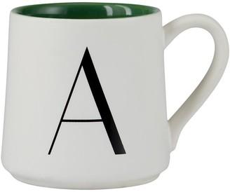 Indigo Monogram Espresso Cup A