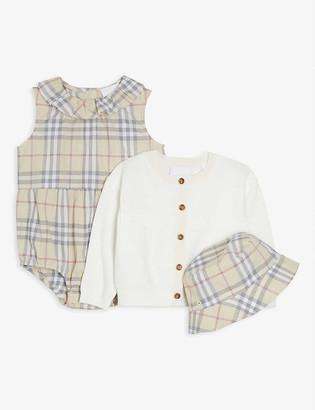 Burberry Norah check cotton set 3 -18 months