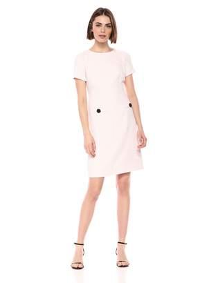 Karl Lagerfeld Paris Women's Short Sleeve Tweed Shift