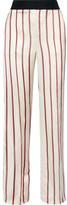 Lanvin Striped Satin-jacquard Wide-leg Pants - FR42