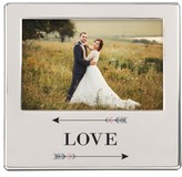 Cathy's Concepts Love Arrows Silver Picture Frame