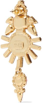 Elizabeth Cole Henning 24-karat Gold-plated, Swarovski Crystal And Stone Earrings