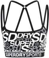 Superdry DASH Sports bra black/pop pink