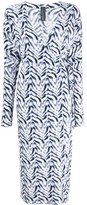 Norma Kamali chevron zebra print wrap dress
