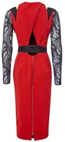 Amanda Wakeley Red Dress with Lace Sleeves