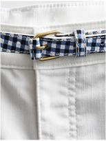 Talbots Pebbled Leather Belt-Gingham & Metallic