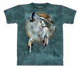 The Mountain Mens Wolf Spirit Shield Short Sleeve T-Shirt