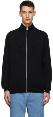 Loewe Black Cashmere Anagram Stitch Sweater