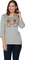 Factory Quacker Holiday Bicycle 3/4 Sleeve T-shirt
