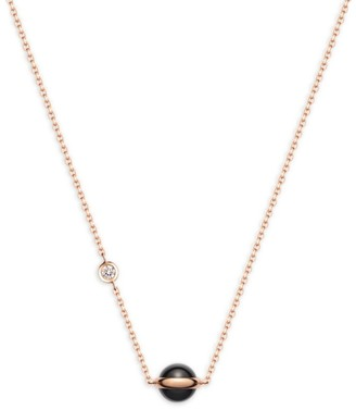 Piaget Possession Diamonds, Onyx & 18K Rose Gold Pendant Necklace