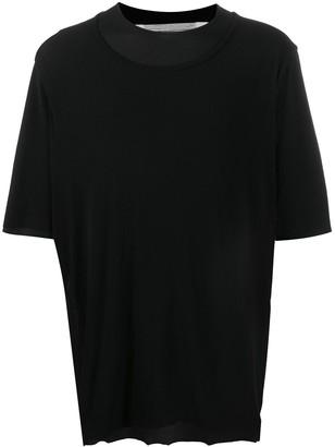 Individual Sentiments layered collar T-shirt