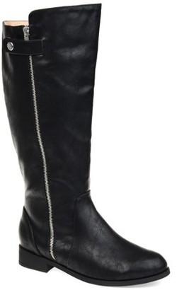 Brinley Co. Womens Comfort Side Zipper Riding Boot
