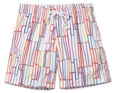 Stella Cove Toddler Boy's Grid Print Swim Trunks