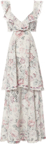 Zimmermann Jasper Honeycomb Tiered Floral Dress