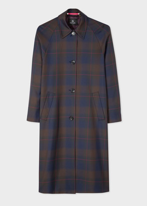 Paul Smith Women's Recycled-Polyester Check Mac