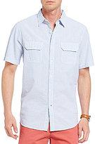 Daniel Cremieux Big & Tall Stripe Seersucker Short-Sleeve Woven Shirt