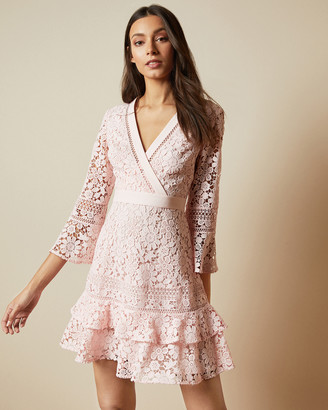 Ted Baker NELLO Multi lace V neck tunic dress