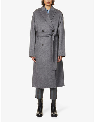 Acne Studios Owanne double-breasted wool-blend coat