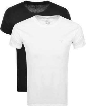 Gant Double Two Pack Crew Neck T Shirt White
