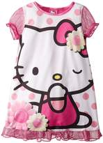 Hello Kitty Big Girls' Polka Dots and Daisies Nightgown