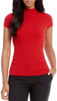 Antonio Melani Luxury Collection Ruth Cashmere Ribbed Cap Sleeve Sweater