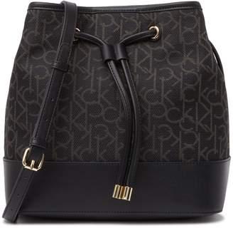 Calvin Klein Gabrianna Signature Jacquared Drawstring Bucket Bag